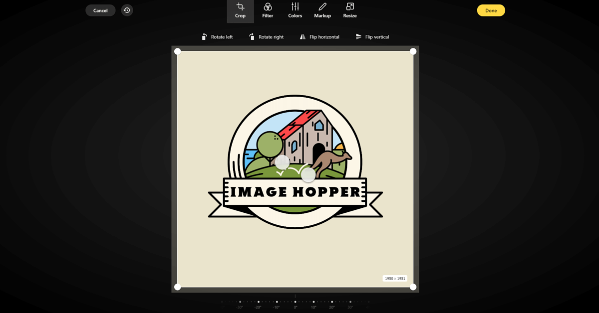 Image Hoppers Editor Interface