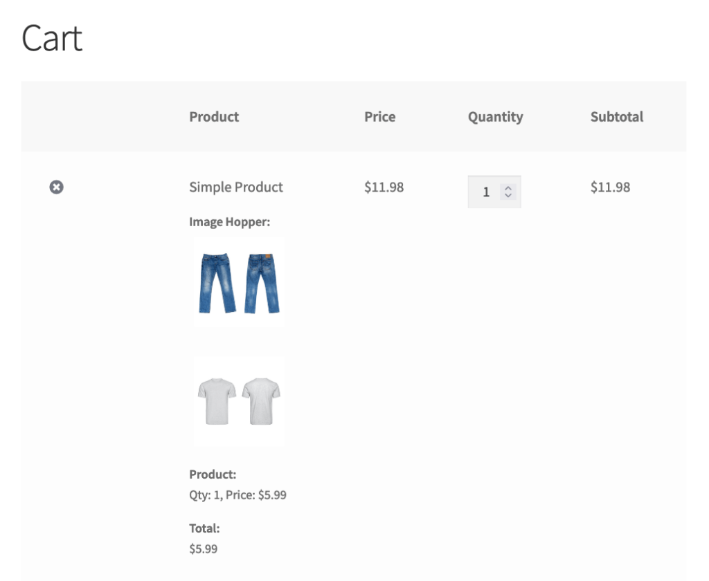 WooCommerce Checkout Cart